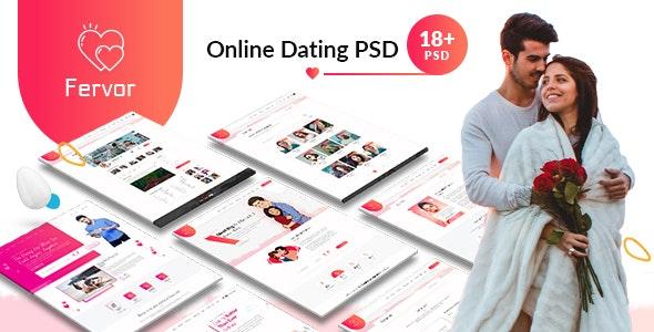 Fervor Dating PSD Template - Miscellaneous PSD Templates
