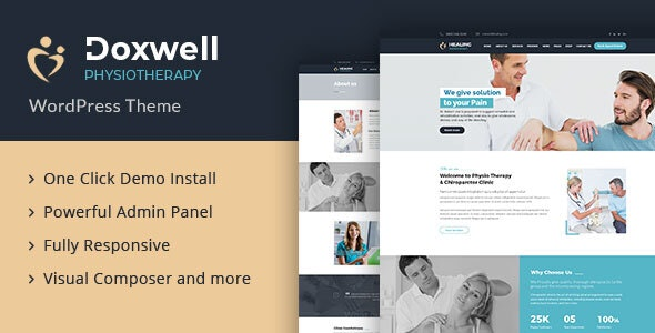 Doxwell : Physical Therapy WordPress Theme - Health & Beauty Retail