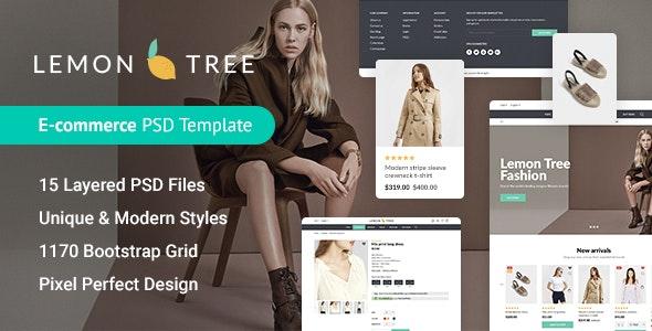Lemon Tree - Responsive eCommerce PSD Template - Fashion Retail
