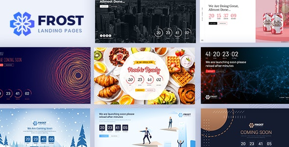 Frost - Coming Soon, Under Construction Bootstrap 4 Template - Under Construction Specialty Pages