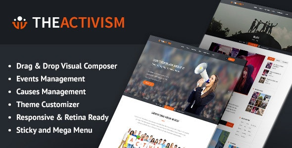 Activism - Political WordPress Theme