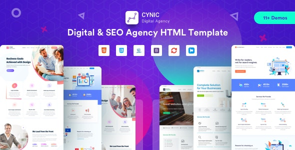 Digital Agency | Cynic - Digital Agency SEO Agency HTML Template - Technology Site Templates