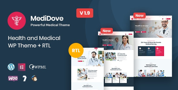 MediDove | Health and Medical WordPress Theme + RTL - Health & Beauty Retail