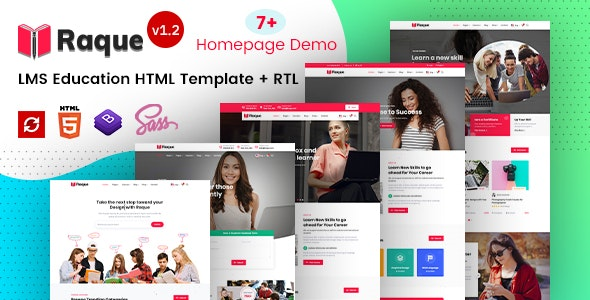 Raque - Education & LMS HTML Template - Corporate Site Templates