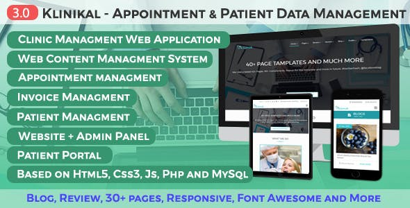 Download Klinikal - Appointment & Patient Data Management Responsive Web Application