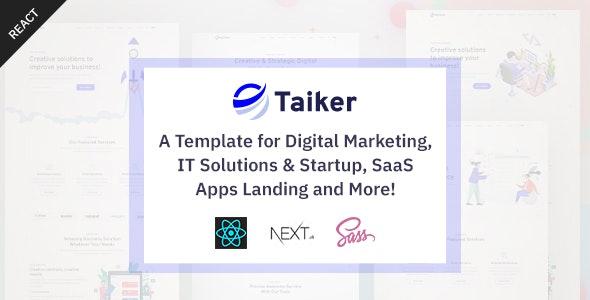Taiker - React Next IT Business Portfolio Template - Technology Site Templates