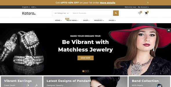 Katora 3 in 1 - Bootstrap Multipurpose Shopping Template for HTML, Angular 8 and React JS