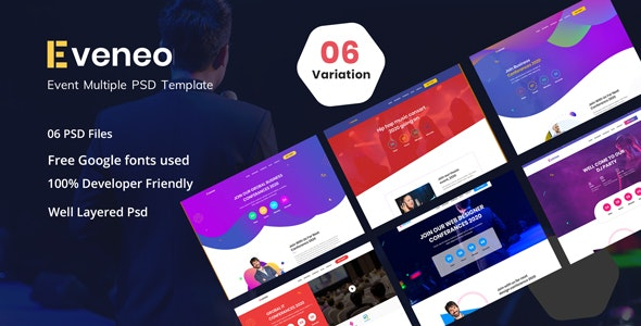 Eveno - Multipurpose Event PSD Template - Events Entertainment