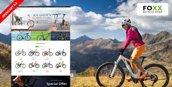 Foxx Bike & Bicycle responsive Theme - Shopping OpenCart
