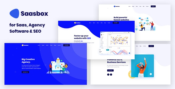 Saasbox - Multipurpose HTML template for Saas & Agency - Technology Site Templates