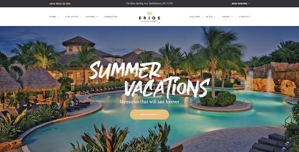 Resort & Hotel WordPress Theme | Erios