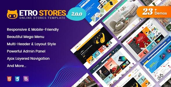 EtroStore - Responsive Multipurpose eCommerce Shopify Theme with 23+ Unique Shop Demos Ready - Shopify eCommerce