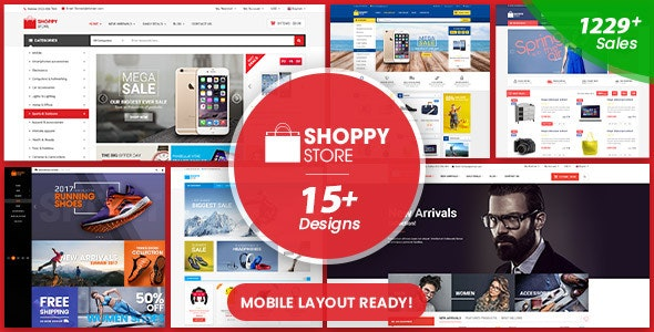 ShoppyStore - Multipurpose Responsive WooCommerce WordPress Theme (15+ Homepages & 3 Mobile Layouts) - WooCommerce eCommerce
