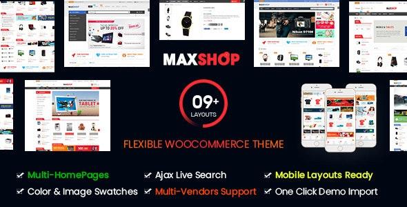 Maxshop | Multi-Purpose Responsive WooCommerce Theme (9+ Homepages & Mobile Layouts Ready) - WooCommerce eCommerce