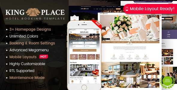 KingPlace - Hotel Booking, Spa & Resort WordPress Theme (Mobile Layout Ready) - Travel Retail