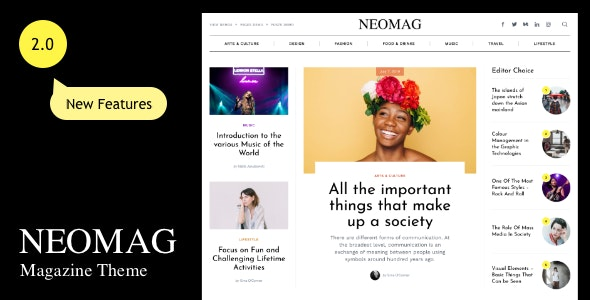 NeoMag - News and Magazine WordPress Theme - Blog / Magazine WordPress