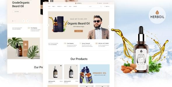 Herboil - Beard oil HTML Template - Health & Beauty Retail