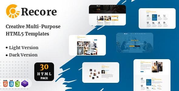 Recore - Resposnive HTML Template - Marketing Corporate