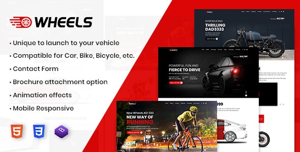 Wheels - Automobile Business Multipurpose And Responsive HTML Template - Creative Site Templates