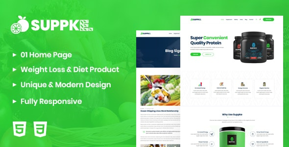 Suppke - Health Supplement Landing Page - Health & Beauty Retail