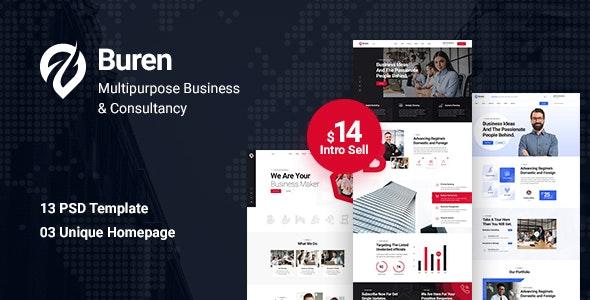 Buren - Multipurpose Business PSD Template - Business Corporate