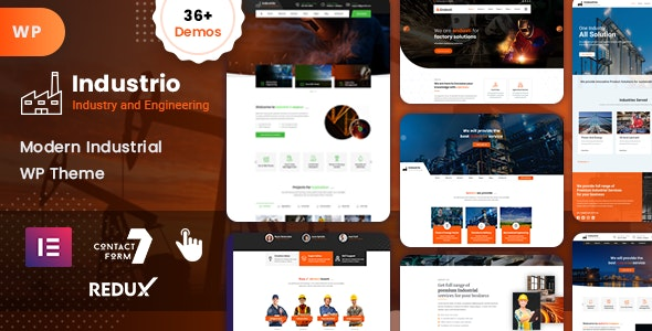 Industrial - Industry & Factory WordPress - Business Corporate