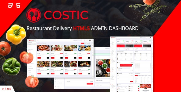 Costic  | Restaurant Admin Dashboard HTML5 Template - Admin Templates Site Templates