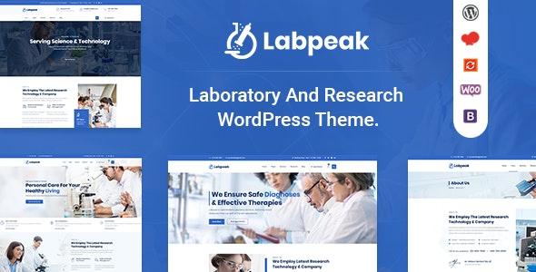 Labpeak | Laboratory & Science Research WordPress Theme - Business Corporate