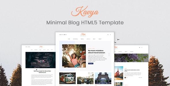 Kavya - Clean Minimal HTML Blog Template - Personal Site Templates