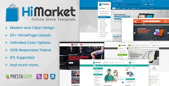 Himarket Multipurpose Responsive Prestashop 1 6 And 1 7 Mega Shop Theme By Skyoftech