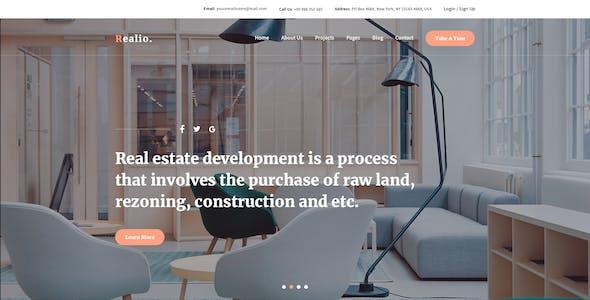 Realio - Creative Real Estate PSD Template