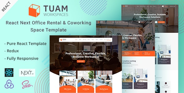 Tuam - React Next Office Space & Rental Template - Corporate Site Templates