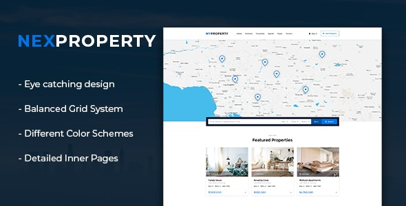 NexProperty - Real Estate HTML Template - Retail Site Templates