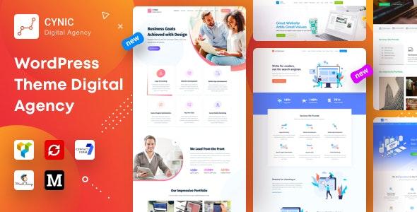 Agency Cynic - Digital Agency, Startup Agency, Creative Agency WordPress Theme - Technology WordPress
