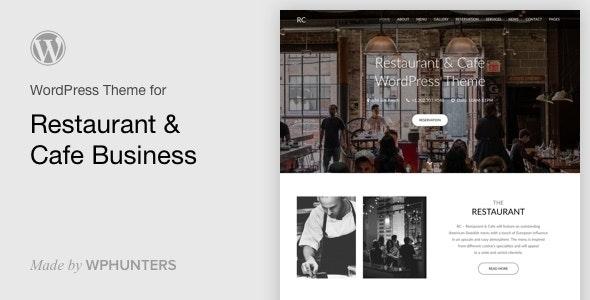 Rc - Restaurant & Cafe Onepage WordPress Theme - Restaurants & Cafes Entertainment