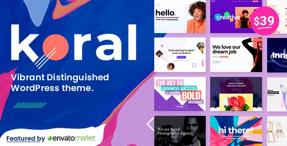 Koral - Multi-Concept WordPress Theme - Creative WordPress