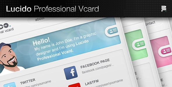 Lucido Professional Vcard - Virtual Business Card Personal