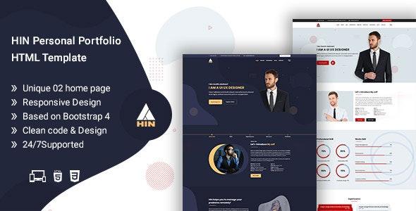 HIN - Personal Portfolio HTML Template - Portfolio Creative