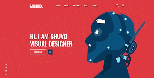Microx CV Resume Personal Portfolio Sketch Template