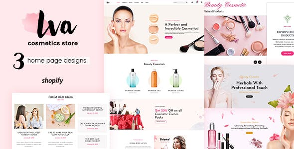 Iva - Beauty Cosmetics Shopify Theme