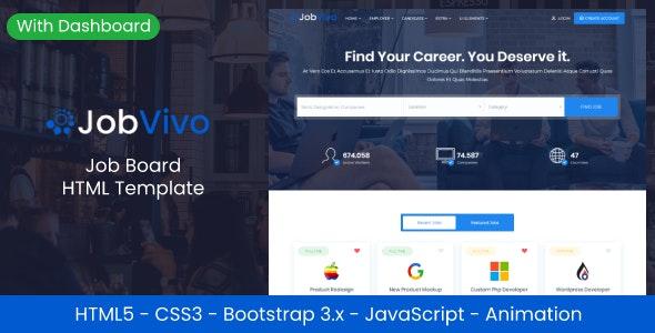 Jobvivo Responsive Job Board HTML Template
