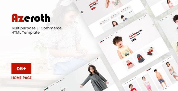Azeroth - Multipurpose E-commerce HTML Template - Fashion Retail