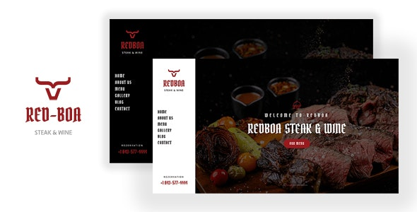 REDBOA -  Steakhouse, Winery and Restaurant Template - Food Retail