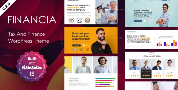 Financia 2 - Tax and Finance WordPress Theme - Business Corporate