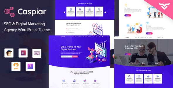 Caspiar | Digital Marketing & Agency WordPress Theme
