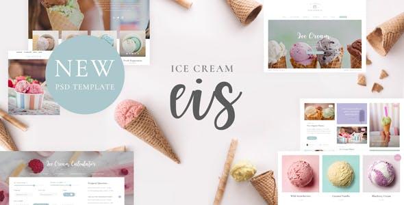 Eis - Ice Cream PSD Template