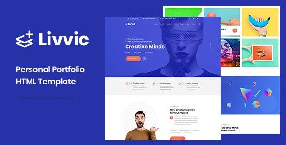 Livvic - Personal Portfolio HTML Template - Portfolio Creative