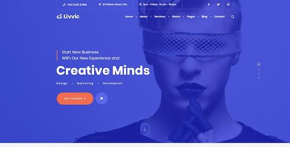 Livvic - Personal Portfolio HTML Template