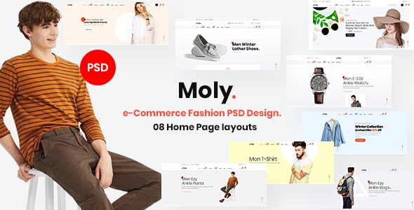 Moly - eCommerce Fashion PSD Template. - Fashion Retail