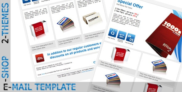 E-SHOP - Email Template - Newsletters Email Templates